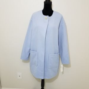 Kenneth Cole baby blue single button coat